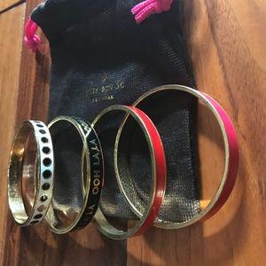 4 Kate Spade Bangle Bracelets
